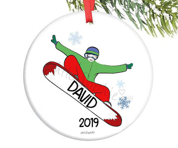 Personalized Snowboarder Ornament