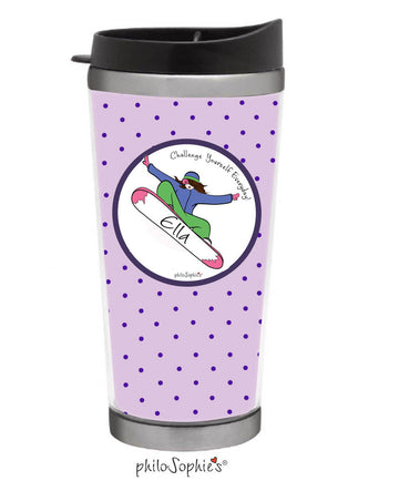 Snowboarder Travel Coffee Tumbler