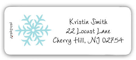 Snowflake - Return Address Labels - philoSophie's®