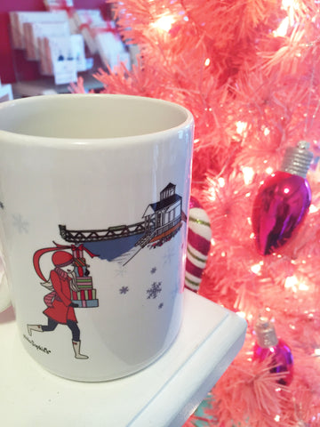 Cityscape Holiday Mugs - Village of Spencerport