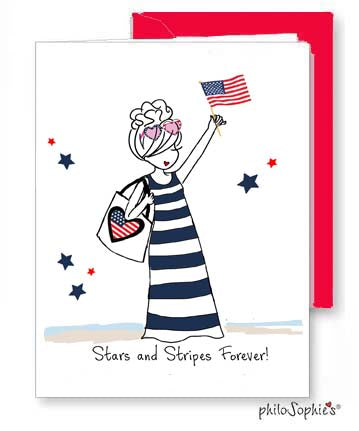 Stars & Stripes Forever Greeting Card