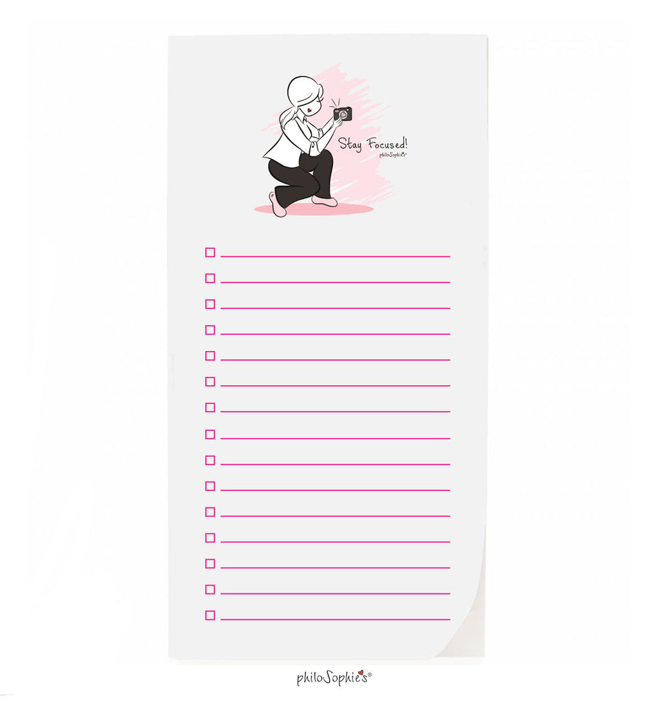 philoSophie❤️s® Stay Focused Notepad