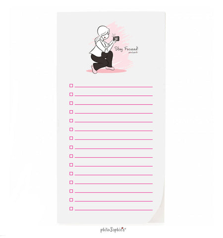 philoSophie❤️s® Stay Focused Notepad - philoSophie's®