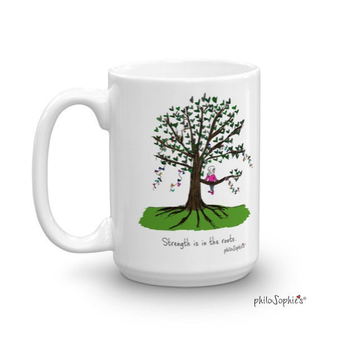 Strength is in the roots Personalized Mug - philoSophie's®