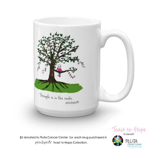 Toast To Hope Strength mug to benefit Pluta Cancer Center