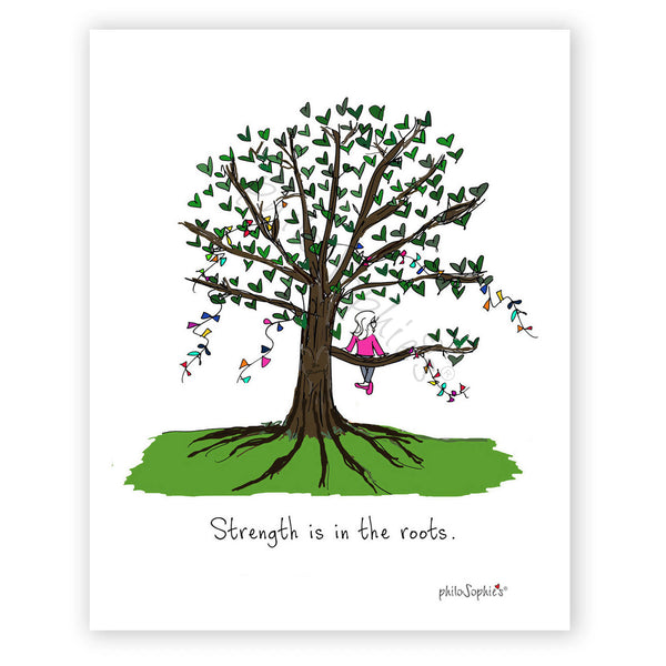 Strength is in the Roots  Wall Art