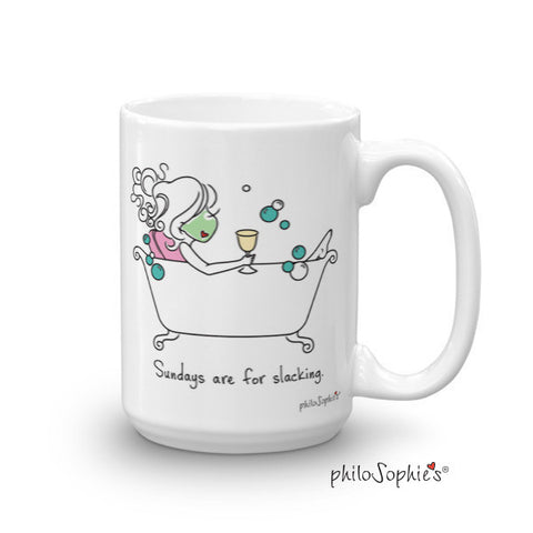 Sundays are for slacking- Personalized Mug - philoSophie's®