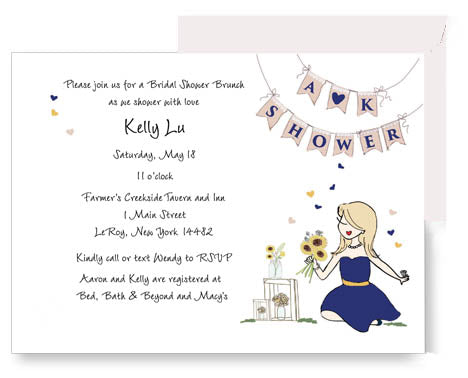Sunflowers and Sunshine -  Bridal Shower Invitation