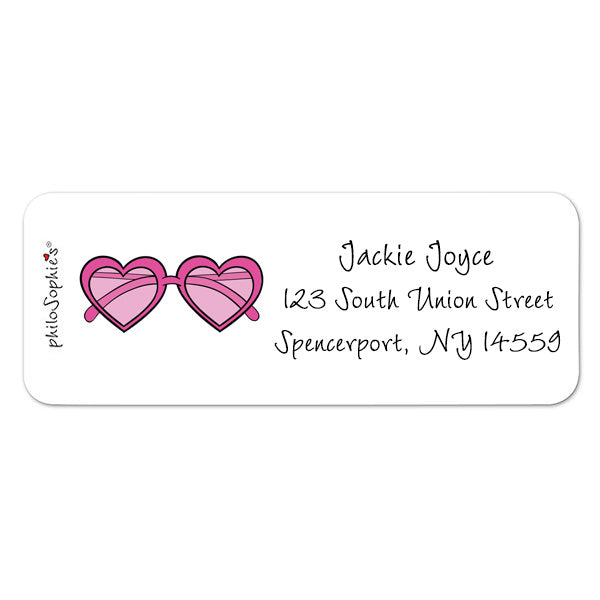 Pink Sunnies- Return Address Labels