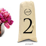 Party Tote Table Numbers/Wine & Spirits Tote
