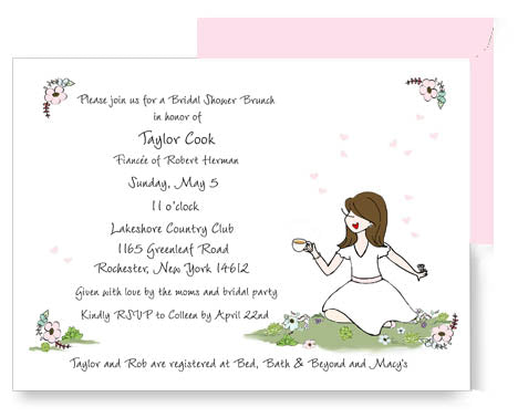 Afternoon Tea -  Bridal Shower Invitation