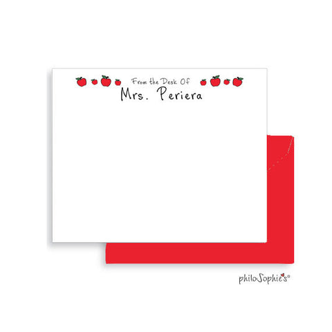 Personalized Teacher Apple Notes - philoSophie's®