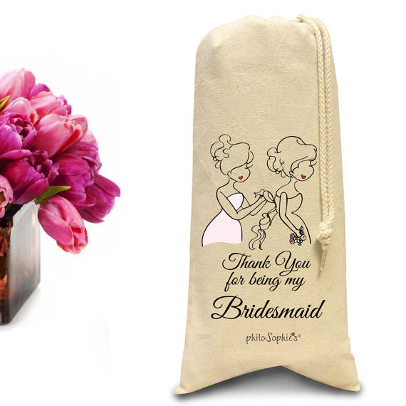 Thank you for being my bridesmaid tote/Wine & Spirits Tote - philoSophie's®