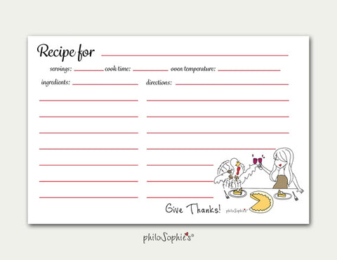 Thanksgiving Recipe Cards - philoSophie's®