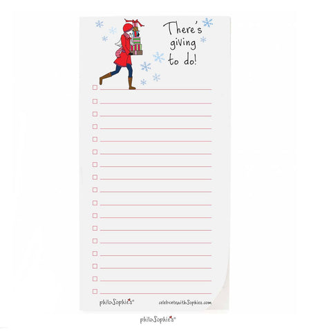 There's giving to do! Holiday notepad - philoSophie's®