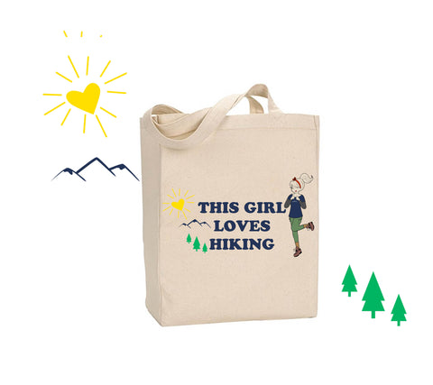 This Girl Loves Hiking - philoSophie's Canvas Tote Bag - philoSophie's®