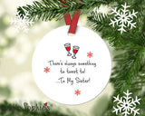Personalized Toast to Friendship/Sisterhood  Christmas Ornament - philoSophie's®