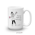 Top Knot Double Shot Kinda Morning Mug - philoSophie's®