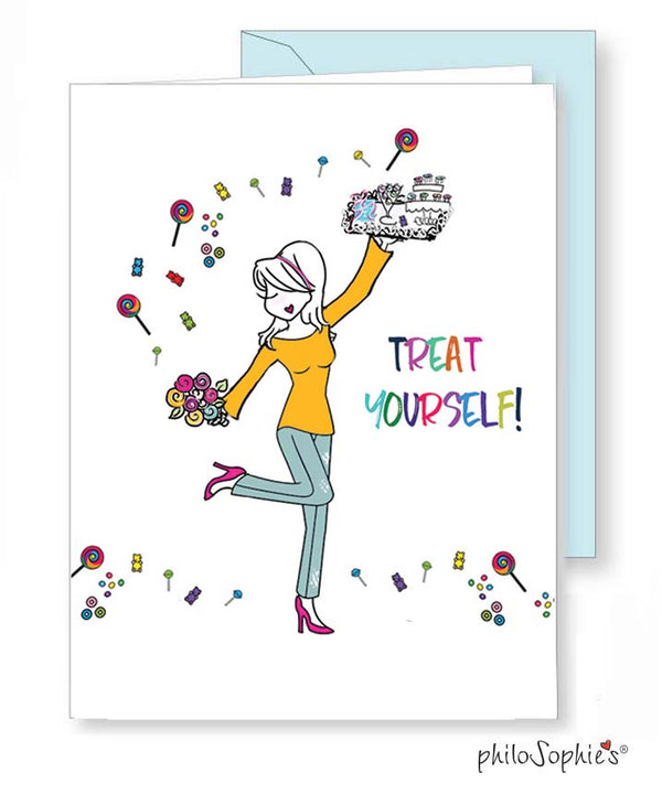 Treat Yourself! Greeting Card - philoSophie's®
