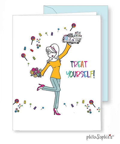 Treat Yourself! Greeting Card