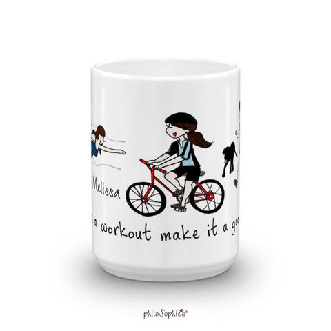 Triathlon - personalized mug