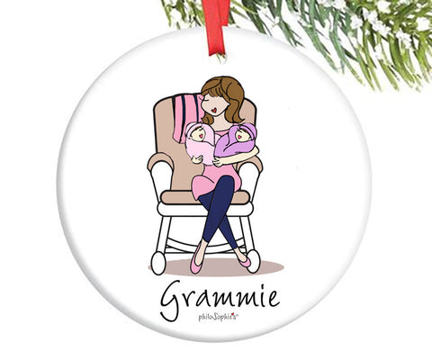 Personalized Twin Ornament
