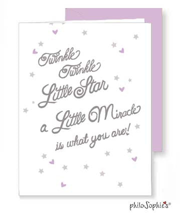 A little Miracle - Baby Greeting Card - philoSophie's®