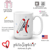 USA Challenge yourself everyday!  Snowboard Winter Mug ( Non Personalized) - philoSophie's®