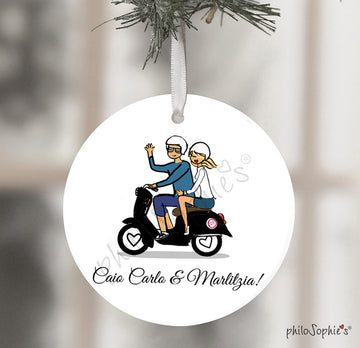 Vespa - Roam in Rome Engagement Ornament
