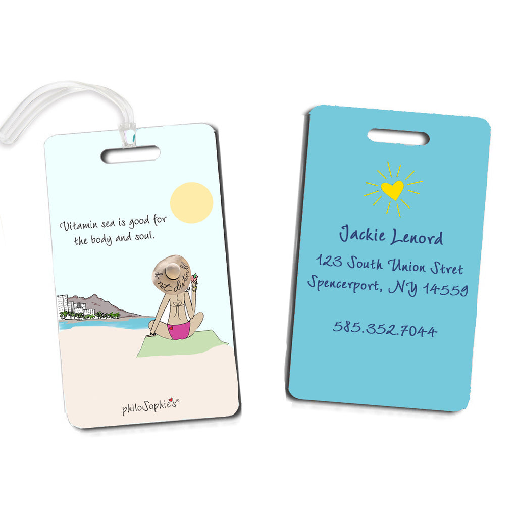 Vitamin Sea Luggage Tags - philoSophie's®