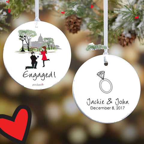 Washington DC Engagement Ornament - philoSophie's®