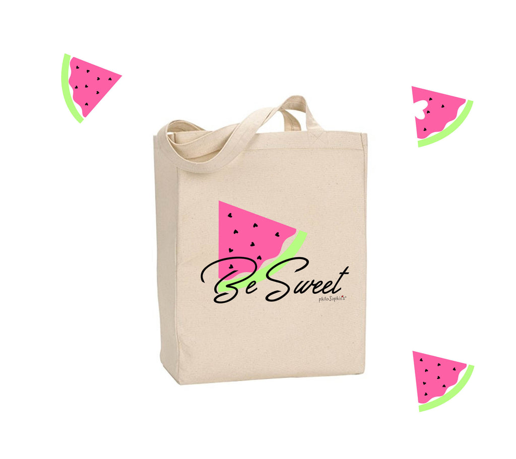 Be Sweet - Watermelon philoSophie's Market Canvas Tote Bag - philoSophie's®