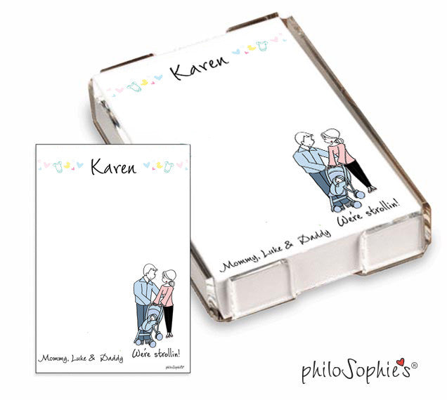 We're Strollin' Mommy & Daddy  Quick Notes - philoSophie's®