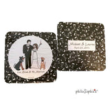 Unique Wedding Coasters -  Custom Portrait