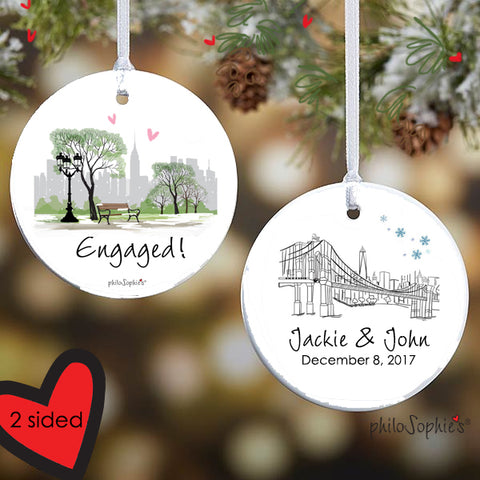 Winter Central Park Scene Ornament/Wine Tag - philoSophie's®