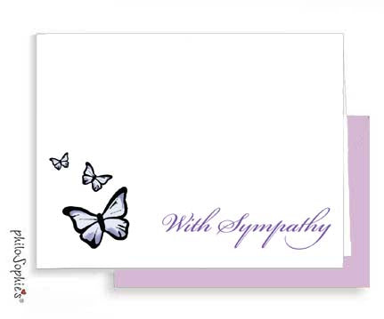 Butterfly Sympathy Card - philoSophie's®