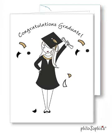 Congratulations Graduate Female Greeting Card