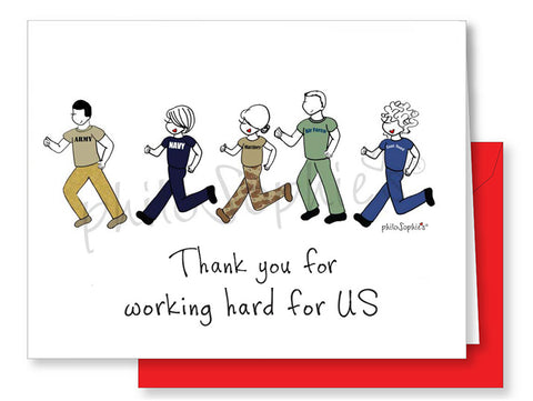Thank a Veteran- for working hard for US - philoSophie's®