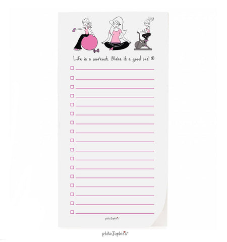 philoSophie❤️s® Workout Notepad