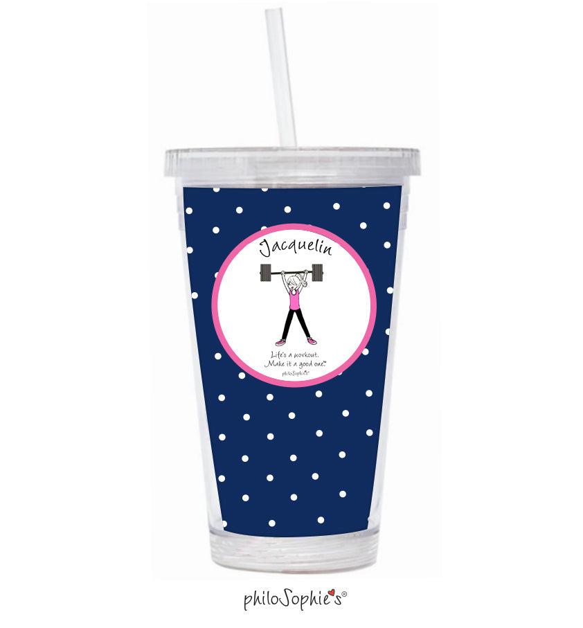 Life's a workout - Lift Water Tumbler - philoSophie's®