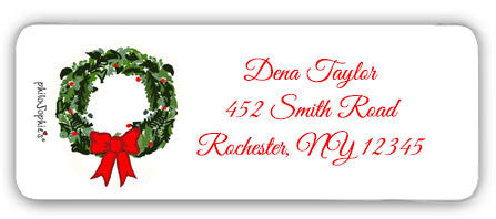 Holiday Wreath - Return Address Labels - philoSophie's®