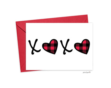 XOXO Folded philoSophie's Greeting Card