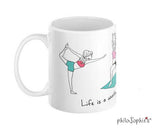 Find Your Center Desk Pad  & Life's a Workout Ceramic Mug