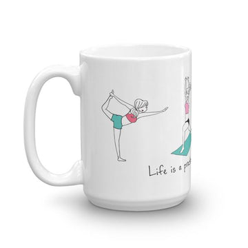 Life is a practice. Always growing. philoSophie's yoga mug