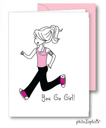 You Go Girl/Runner - Congratulations Greeting Card - philoSophie's®