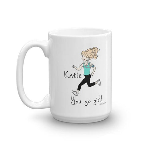 You Go Girl -  personalized runner mug - philoSophie's®