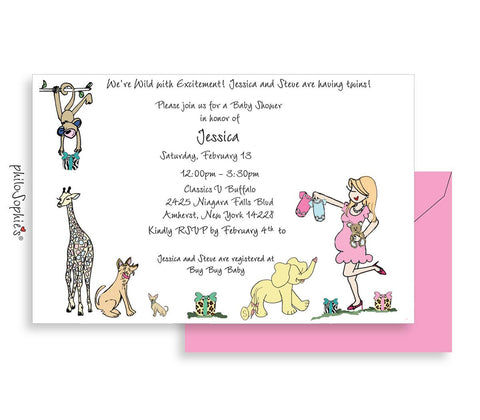 Personalized Baby Shower - Zoo