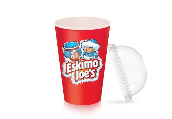 Dome Lids For Large Slush Paper Cups - 1000 Box