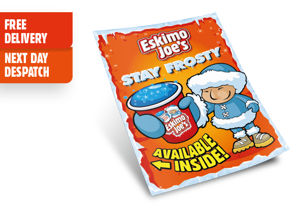 A3 Available Inside Window Cling - Eskimo Joe's Australia