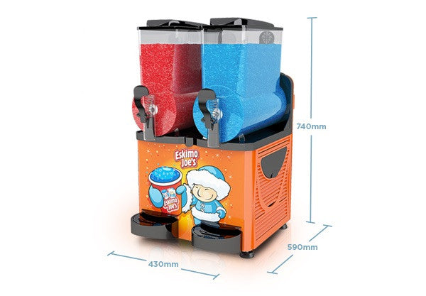 Eskimo Joe's Twin Bowl Slush Machine - Orange - Eskimo Joe's Australia - 8